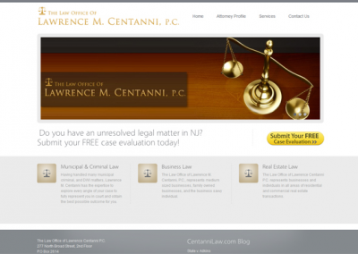 Centanni Lawyers Website